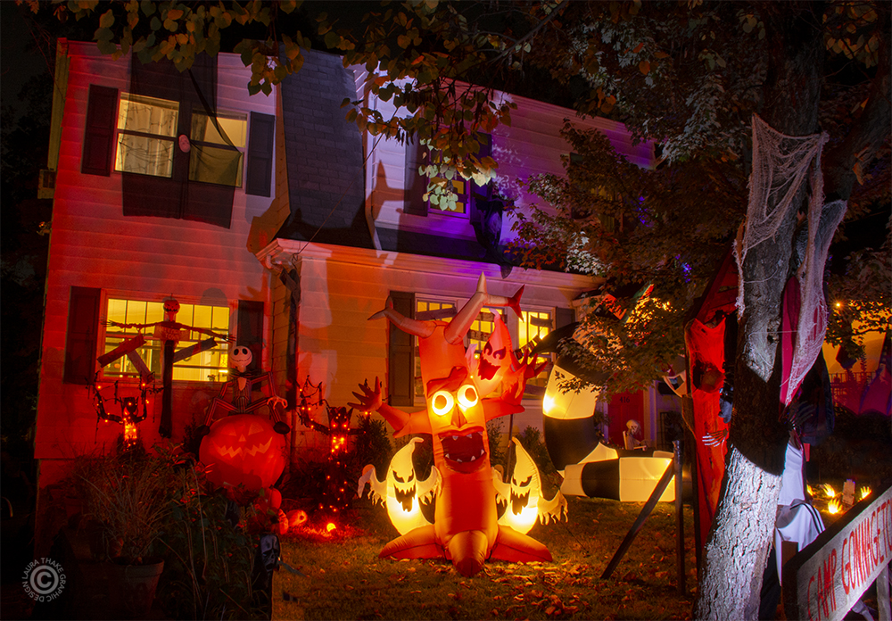 Halloween decorations in St. Louis MO.