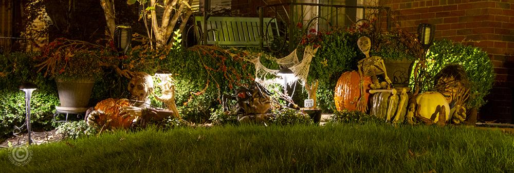 Halloween decorations in 63109.
