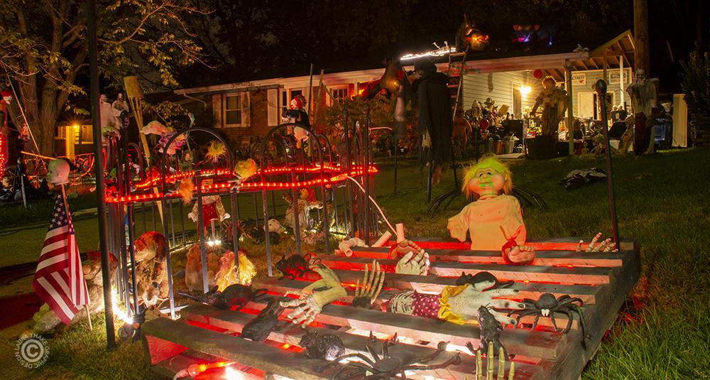 Halloween baby graveyard that's super creepy.