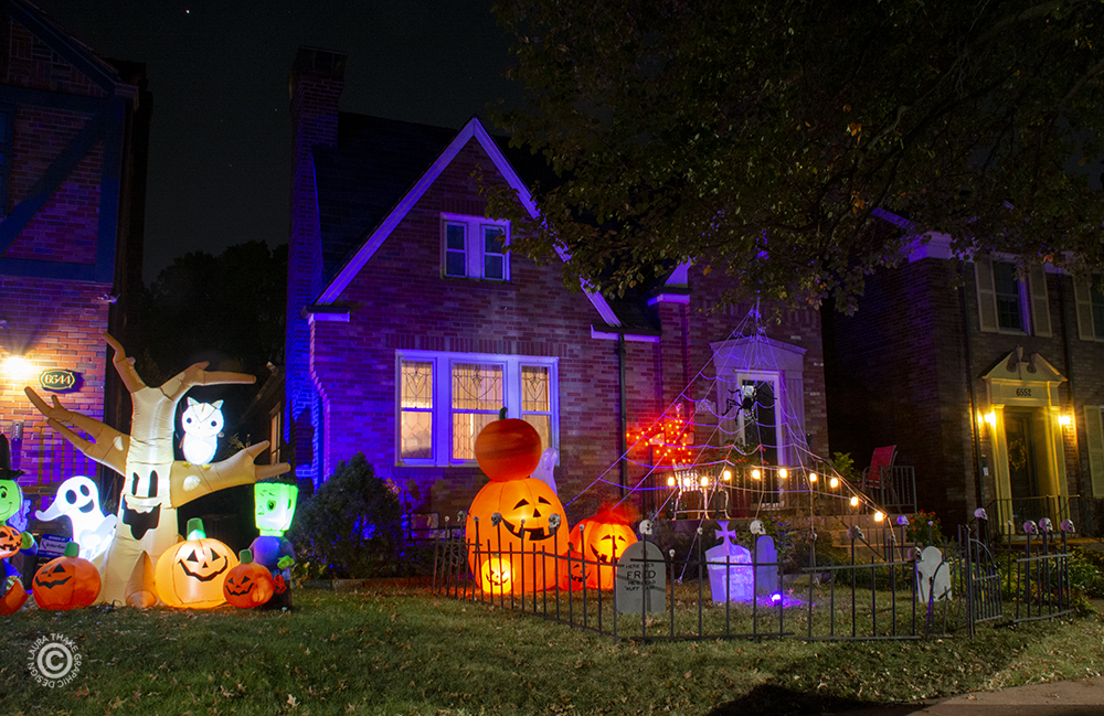Halloween decorations near me in St. Louis.