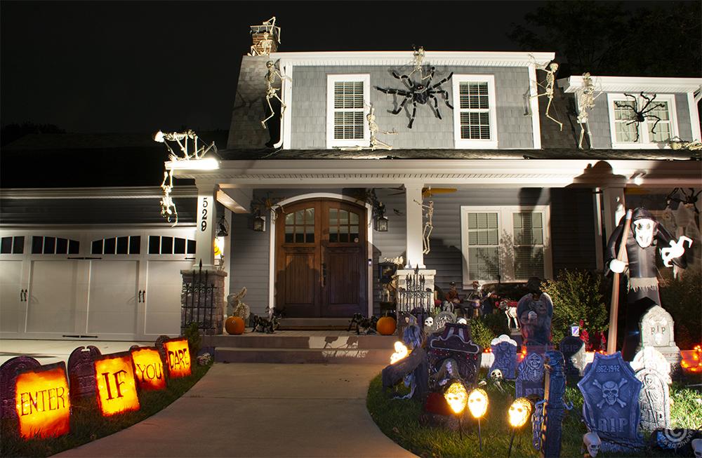 Halloween decorations in Kirkwood MO.