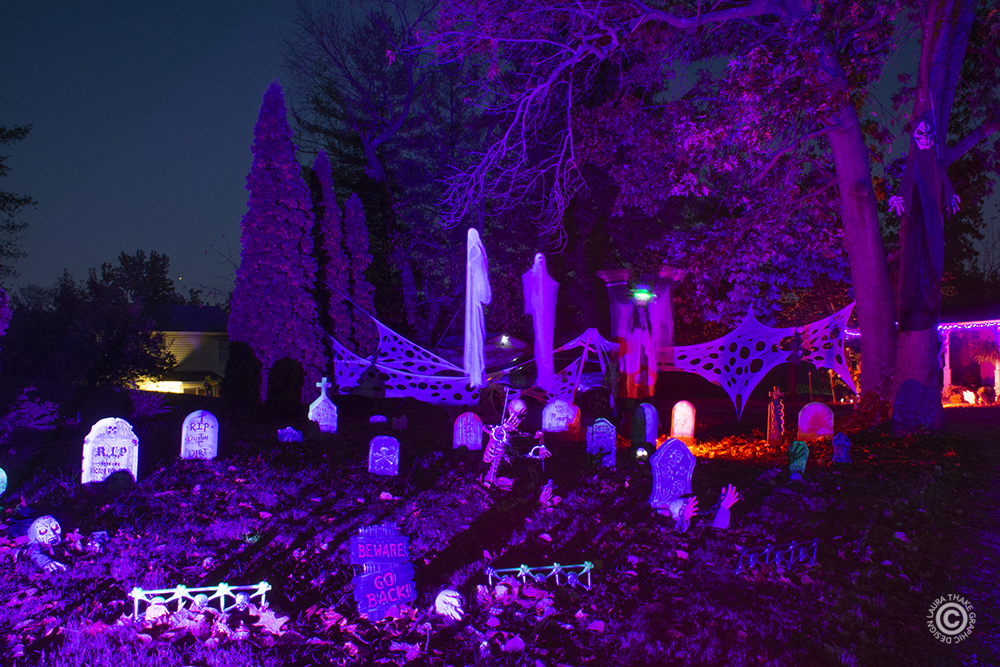 A hounded graveyard in Ballwin Mo for Halloween.