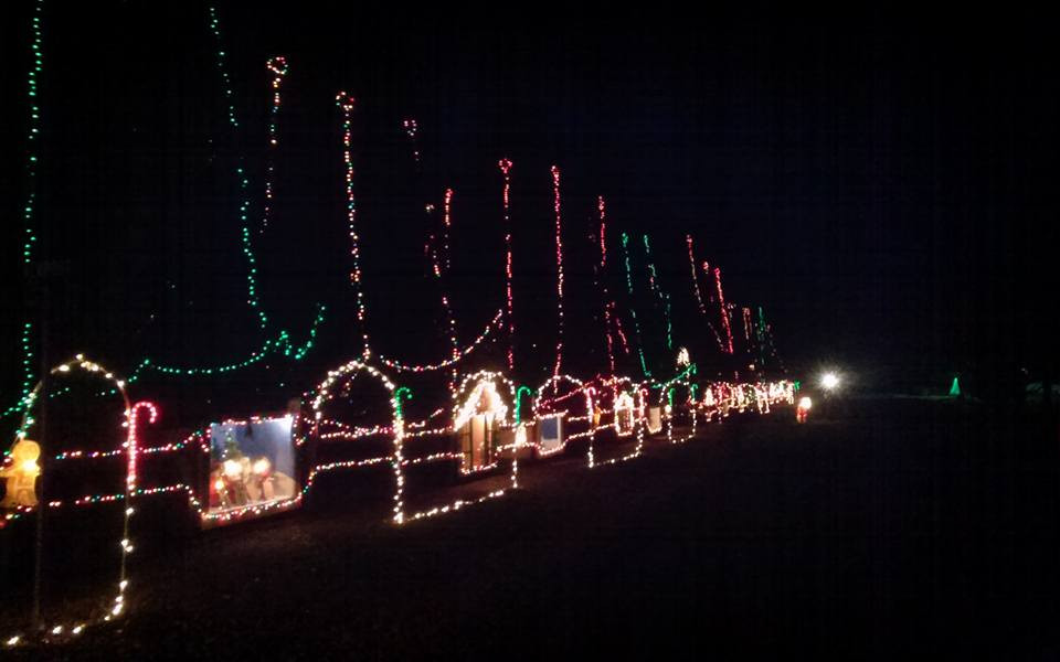 Drive through Christmas display in Illinois.