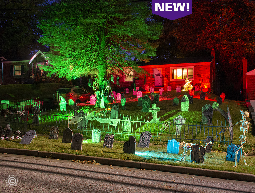 Halloween decorations in Crestwood MO.