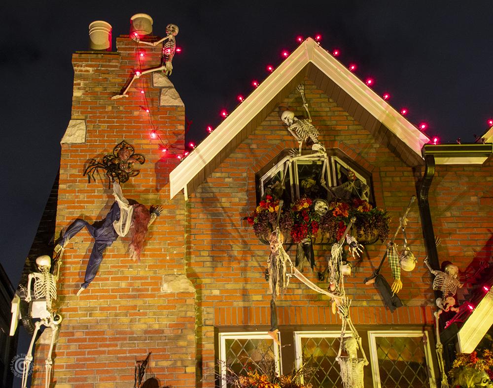 Halloween skeleton decorations near me.