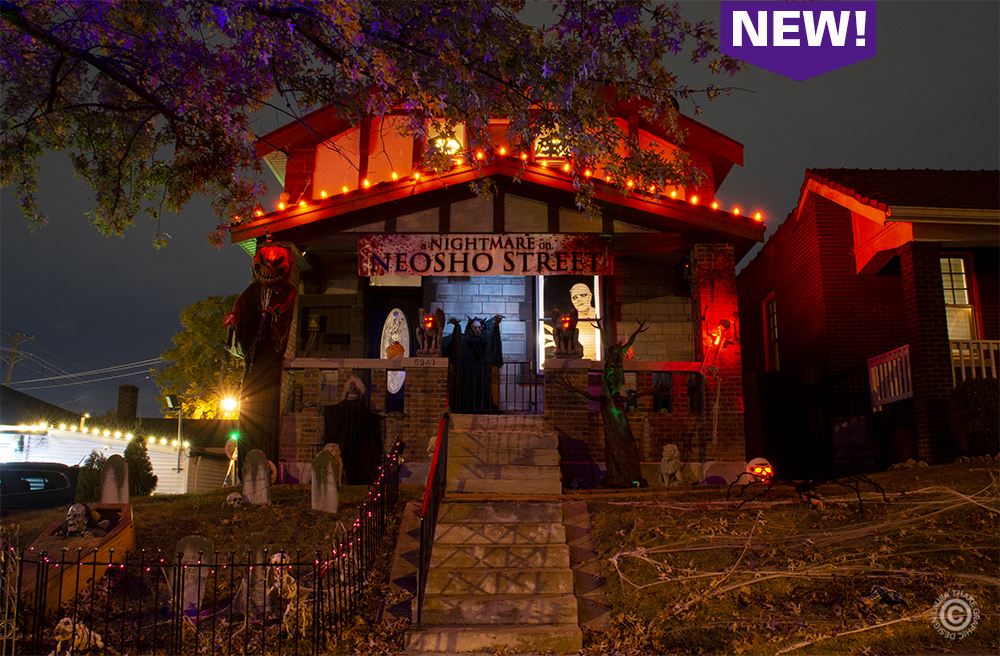 Halloween lights and decorations in Missouri.