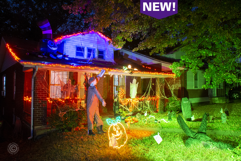 Halloween decorations in Normandy St. Louis MO.