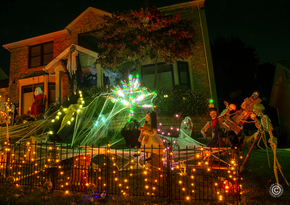 Halloween lights and decorations in St. Louis MO.