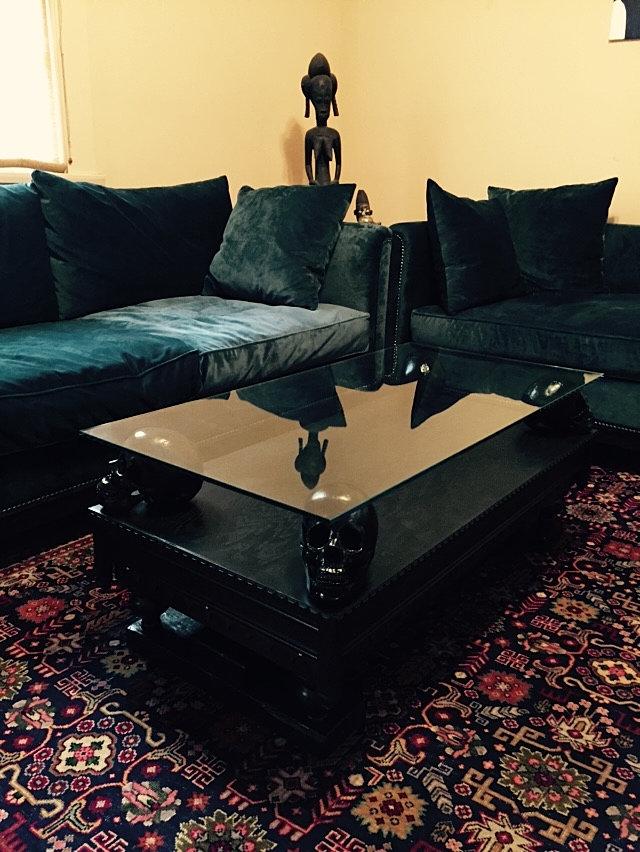 Coffee Table ... - Mooremetal Studios Skull Coffee Table