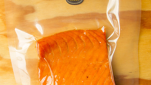 Salmón ahumado en caliente 350 grs.