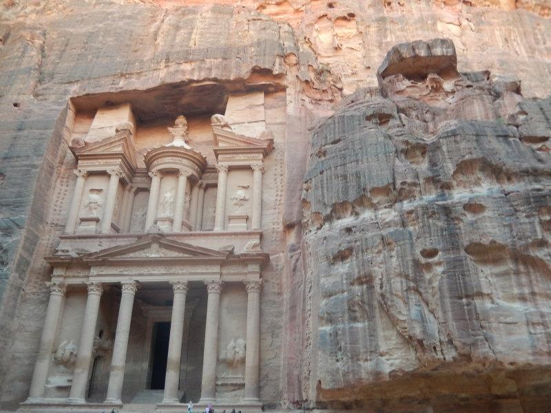 Die Ruinenstadt Petra im heutigen Jordanien, Hauptstadt der Nabatäer