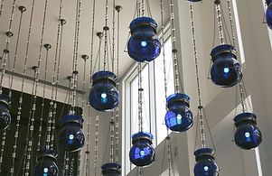 Blue Glass Lights