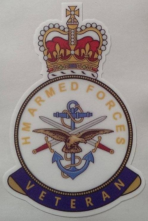 HM ARMED FORCES VETERAN BRITISH UK Car/Van/Bumper/