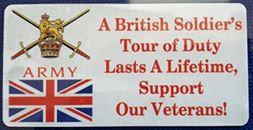 Tour Of Duty Army. Car Window Sticker