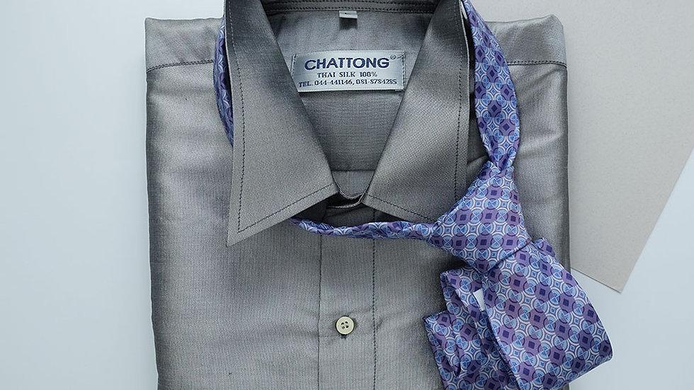 NT021 Printed Silk Necktie