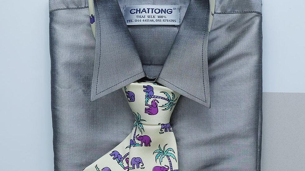 NT020 Printed Silk Necktie