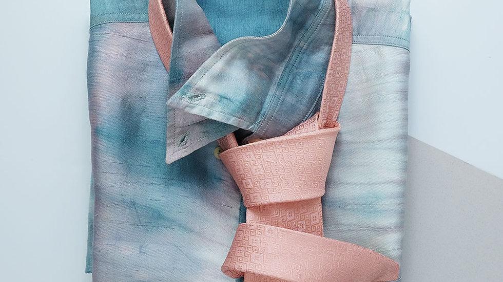NT015  เนคไทผ้าไหมลายลูกแก้ว