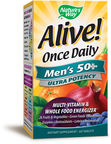 ALIVE! MEN'S 50+ MULTIVITAMIN