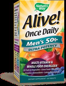 ALIVE! MEN'S 50+ MULTIVITAMIN