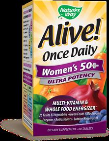 ALIVE! WOMEN'S 50+ MULTIVITAMIN