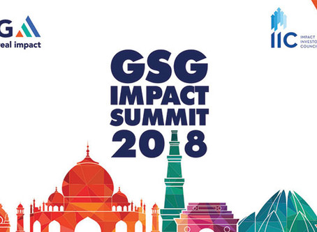 GSG Impact Summit 2018 - A call for action to the world of impact investors.