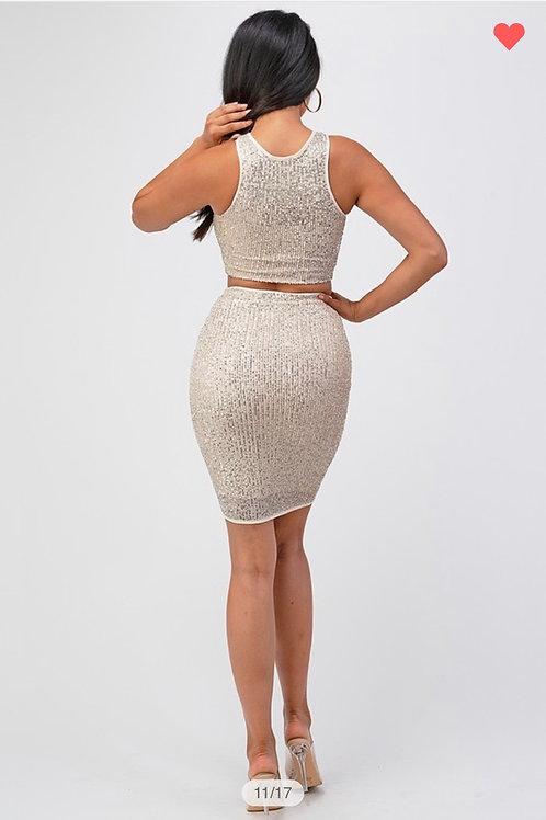 Sequin Skirt & Top