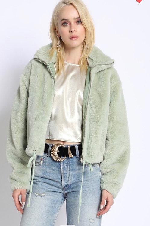 Faux FurZip Up Jacket