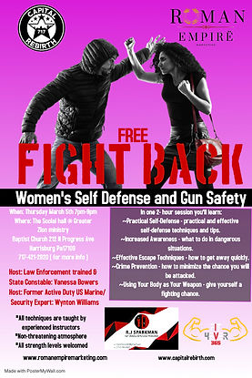 Copy of Womans Self Defense Flyer - Made