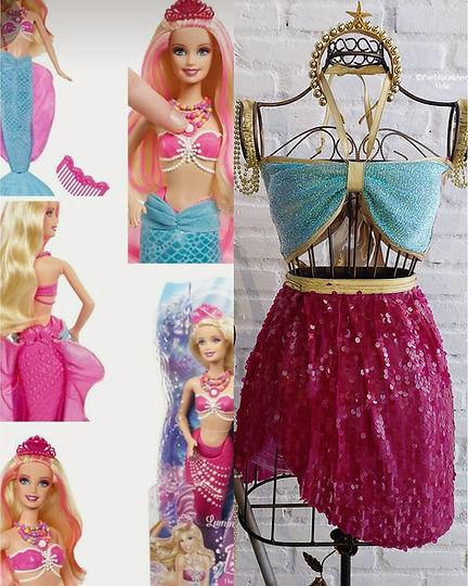 fantasia de sereia - barbie sereia - festa da barbie - fantasia barbie - barbie humana - roupa da barbie - mermaid party - fantasia barbie sereia - fantasia feminina carnaval - fantasias criativas