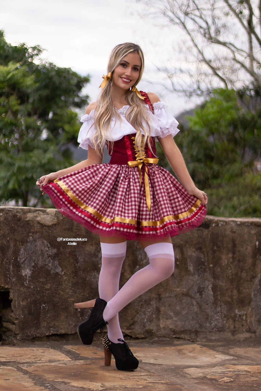 vestido junino - vestido caipira - vestido de quadrilha - vestido de oktoberfest