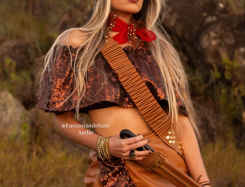 Fantasia Maria Bonita (s/cinto) (c/tiara)