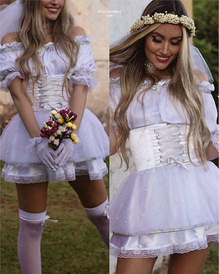 noiva caipira - vestido noiva caipiria - vestido junino - vestido de festa junina - festa junina - vestido caipira - casamento junino