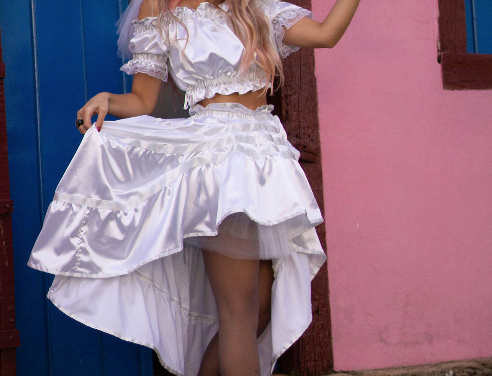 Vestido Noivinha caipira