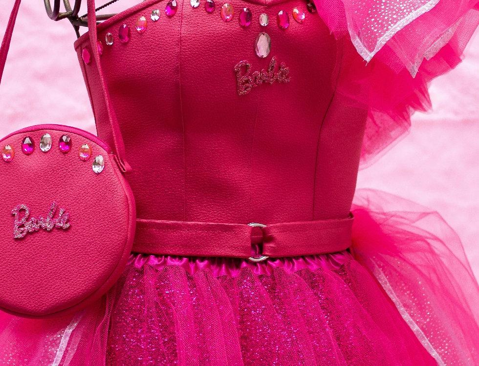 Fantasia Barbie Princess + bolsa