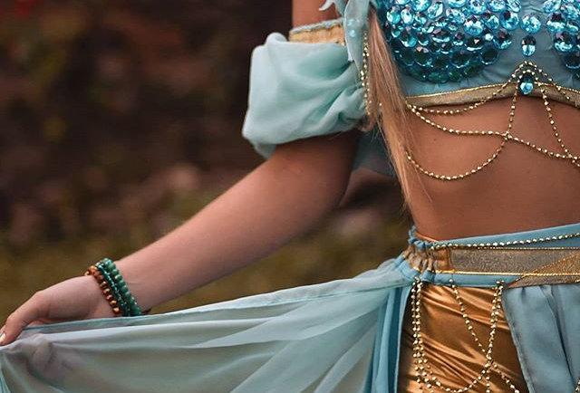 Fantasia Jasmine Princess saia longa COMPLETA