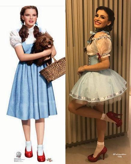 Fantasia Dorothy - Dorothy magico de oz -aula da saudade - fantasias de luxo - fantasia feminina de luxo - doroty