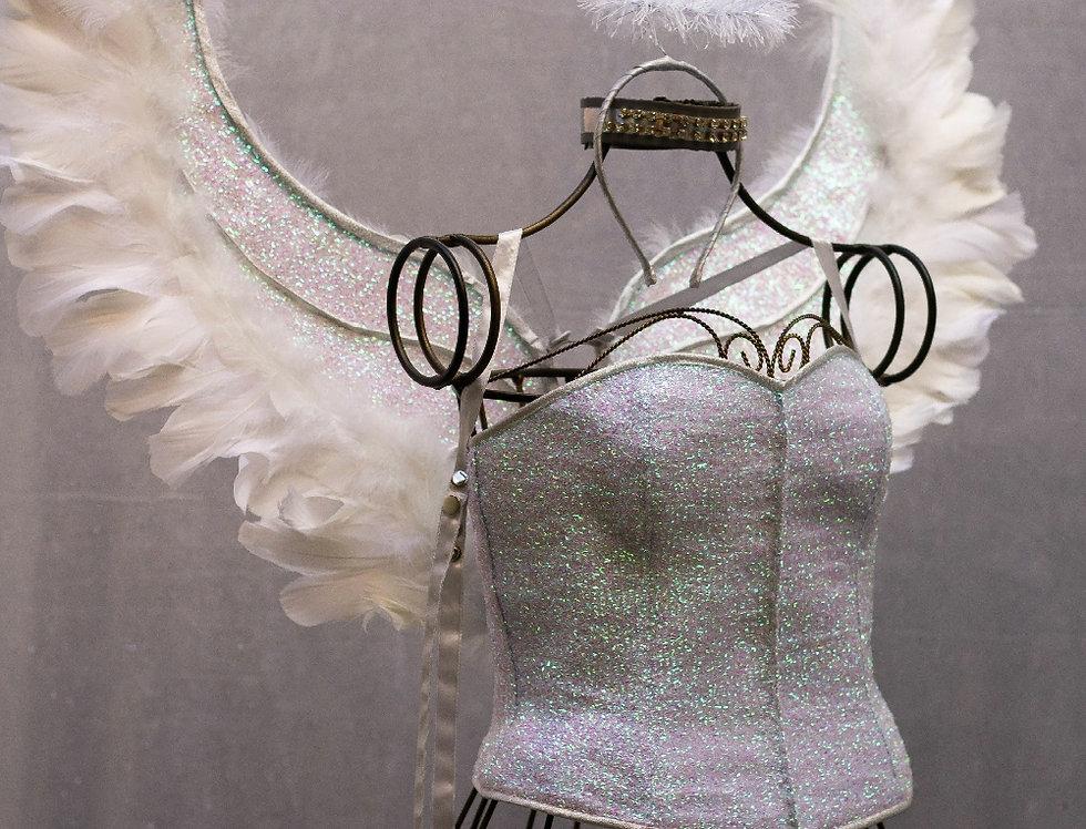 Asa angel branca - Brilho Furta cor