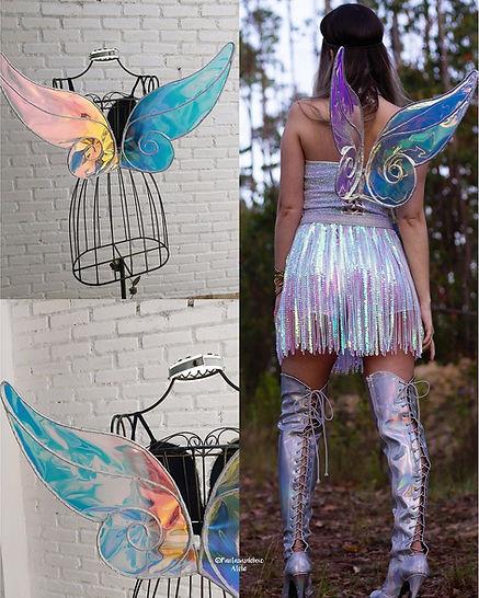 asa de fada - fantasia de fada - adereços de carnaval - fairy wings - fairy costume