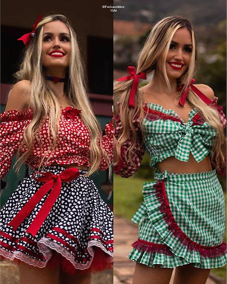 vestido de festa junina - vestido caipira - vestido de sao joao - vestido junino - festa junina