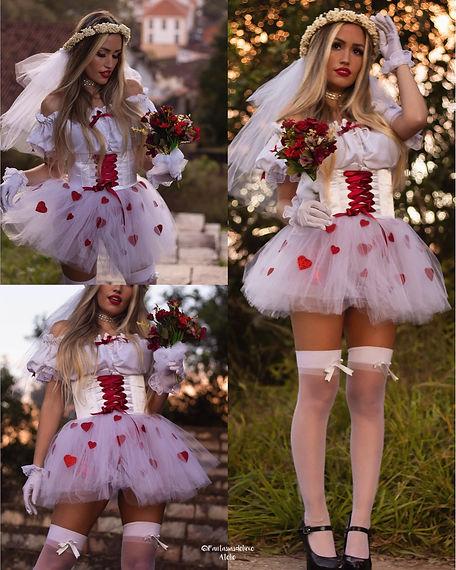 vestido noivinha caipira - vestido noiva junina - festa junina - vestido caipira - vestido noivinha festa junina