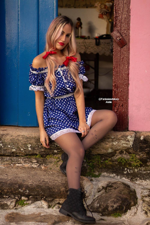 vestido junino - vestido caipira - vestido de quadrilha