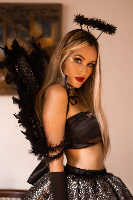 fantasia victoria secrets angel negro, fantasia angel, fantasia anjo negro, angel, dark angel, fantasia halloween