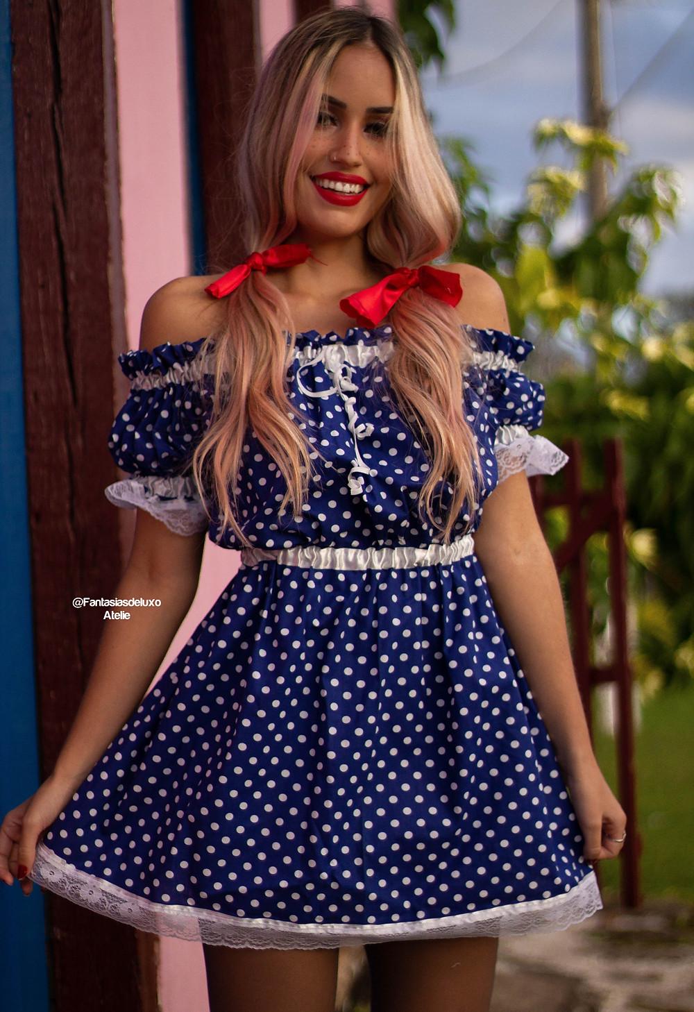 vestido de festa junina - vestido caipira - vestido junino