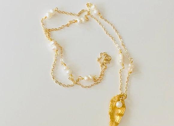 Caribbean Leaf Necklace