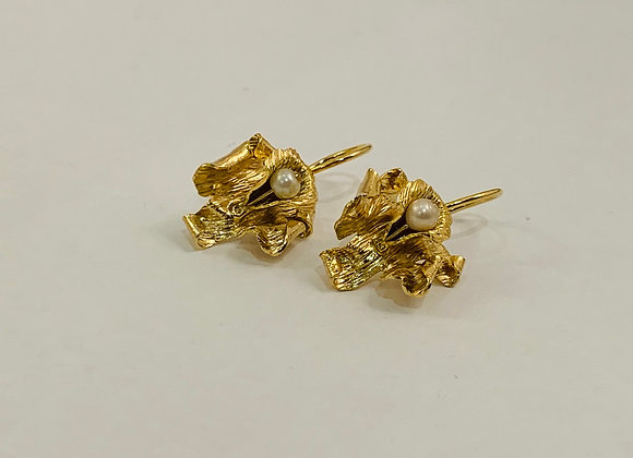 Caribbean Orchid Earrings II (Gold)