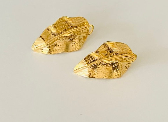 Caribbean Leaves Earrings (gold)