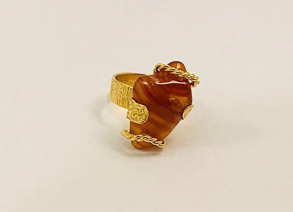 Amazonian Jasper Ring (Gold)