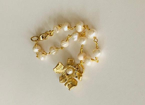 Caribbean Orchid Bracelet (gold)