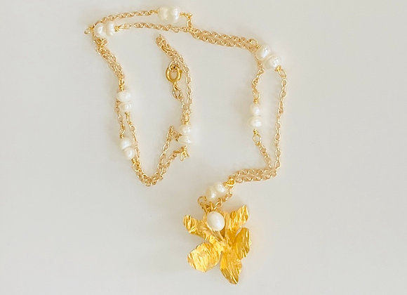Caribbean Orchid Necklace