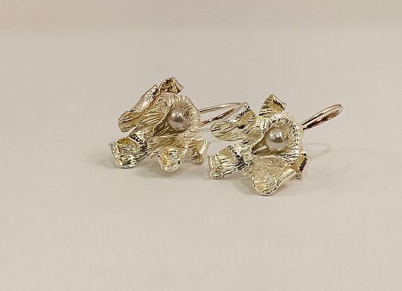 Caribbean Orchid Earrings II (silver)